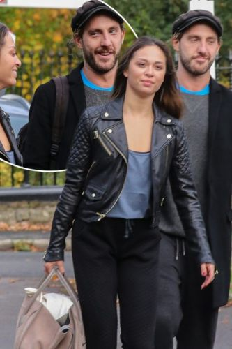 Strictly's Seann Walsh and Katya Jones put on smiley display as they head to rehearsals