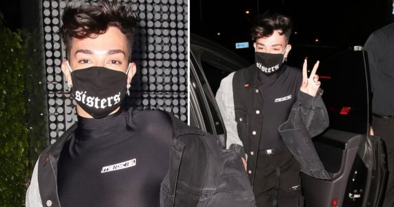 James Charles carefree as he masks up for dinner with friends after Tati Westbrook drama