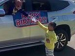 Queensland boy celebrates his birthday in quarantine and drops cakes to his friends in their cars