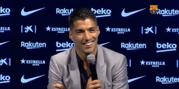 Luis Suarez aims dig at Barcelona's president Josep Maria Bartomeu during farewell press conference
