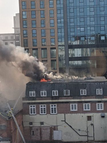 Bournemouth fire - Block of flats in flames as roof collapses and beachgoers urged to 'stay away' from main road