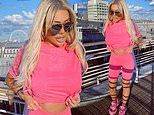 Geordie Shore's Chloe Ferry displays her 2st weight loss in bright pink cycling shorts
