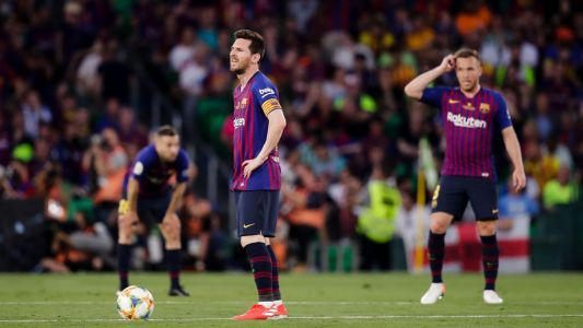 Barca's double hopes end with Copa del Rey loss