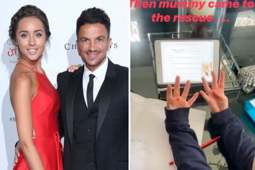Peter Andre's doctor wife Emily teaches daughter Amelia maths over FaceTime