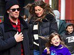 Tom Brady spends quality time with wife Gisele and the kids at brunch in NYC
