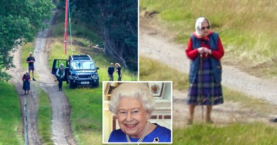 Queen spotted for first time since heading to Balmoral as she takes dogs for a walk