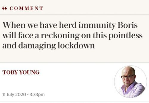 Press Watchdog Exposes Inaccuracies In Toby Young's 'Herd Immunity' Telegraph Article