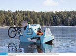 Adventure lovers can enjoy travelling across land AND sea with £8,000 electric houseboat tricycle