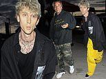 Machine Gun Kelly opts to forego face mask and temperature check at reopening of Craig's in LA