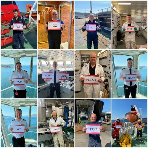 CalMac send out message in support of NHS heroes with mural