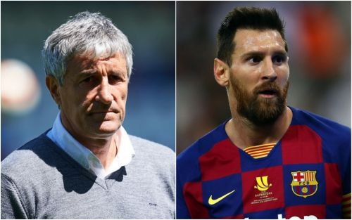 Barcelona's new manager Quique Setien has already sung Lionel Messi's praises