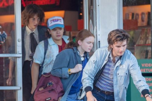 Stranger Things stars reunite in new snaps as filming resumes for season four