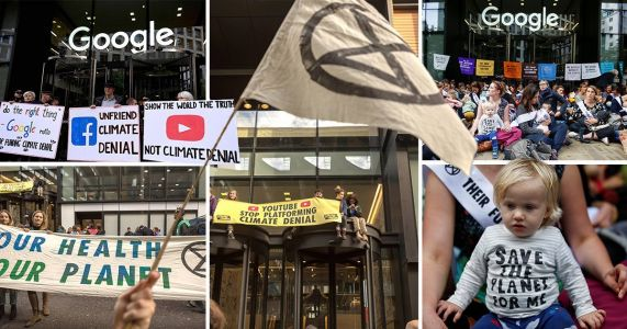 Extinction Rebellion protesters barricade Google and YouTube's offices