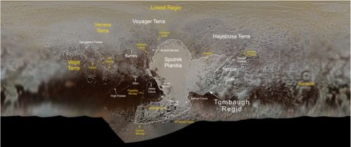 IAU approves more names for features on Pluto
