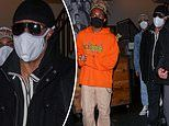 Stevie Wonder, 70, keeps it casual for dinner with his 15-year-old sonMandla at Catch LA