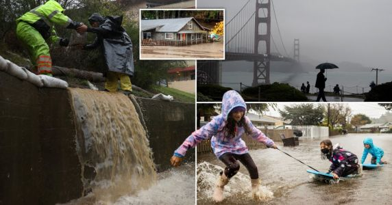 California battered by 'bomb cyclone' after nearly a year without rain