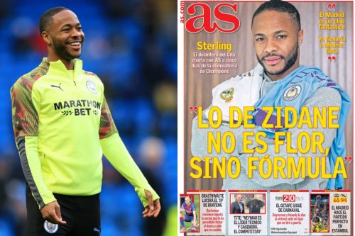 Raheem Sterling poses with Real Madrid shirt as Man City star calls Spanish giants 'massive and fantastic'
