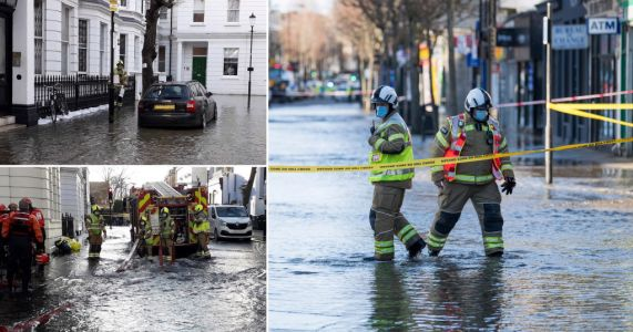 Floods five foot deep engulf Notting Hill shop fronts after water main bursts