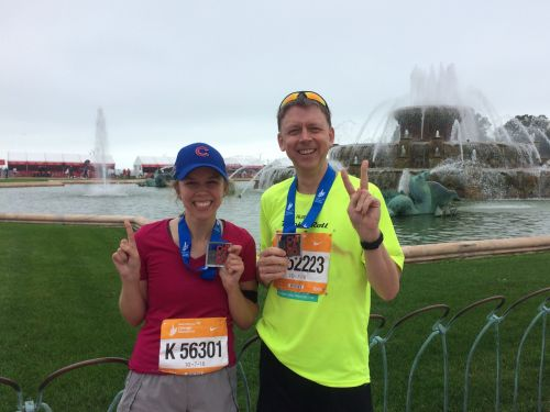 My dad and I are running the New York City Marathon together - here's how we're training for it at 26 and 56