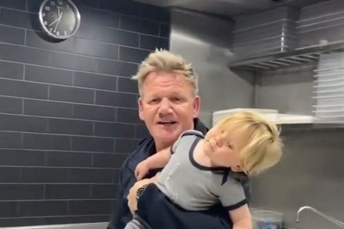 Gordon Ramsay takes baby son Oscar to work with him as restaurants reopen