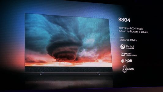 Philips 8804 TV pairs Bowers & Wilkins audio with a Dolby Vision LCD screen