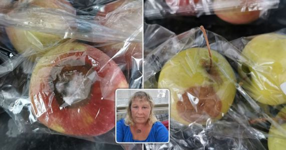 Shielding mum got rotten fruit and veg 'every week' in Government food boxes