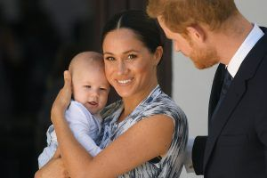 Baby Archie reportedly video called the royal family with cake