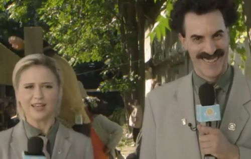 "Watch Borat's ""daughter"" infiltrate White House in new clip"