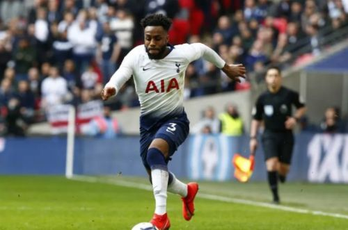 Danny Rose laughing with journalists after news broke that Jose Mourinho was sacked by Tottenham Hotspur