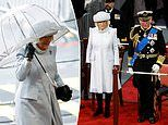 Prince Charles and Camilla face blustery weather and rain for royal engagement
