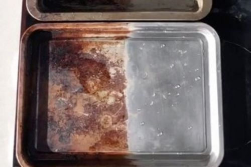 Man shares cleaning hack to rescue grubby baking trays and leave them spotless