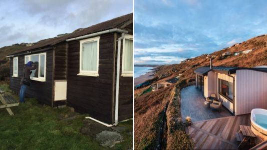 Couple transform rotting shed into seaside bolthole and rent it out for £3k a week