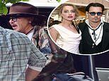 Johnny Depp is pictured arriving at pal Keith Richards' home after explosive £1 million libel trial