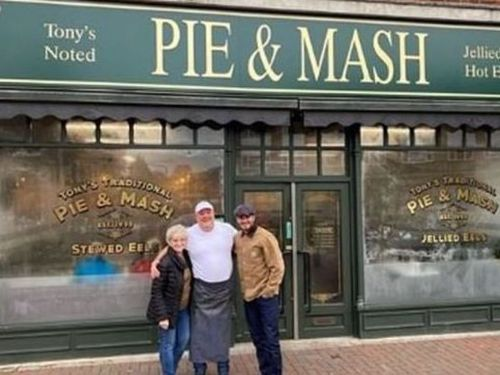 David Beckham Stopped in at His Favourite Pie and Mash Shop in Epping Forest