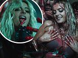 Bebe Rexha is out for blood as she sizzles in black leather with vampire squad for Sacrifice video