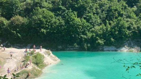 Swimmers Warned Against Cooling Down in Beautiful Toxic Quarry Lagoon