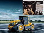 Speed freak Guy Martin sets a new world record by hitting 135mph in a TRACTOR