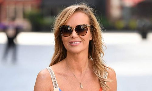 Amanda Holden's silky leopard print dress has us excited for the weekend