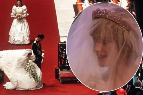 Princess Diana looks sensational in sparkling tiara in unearthed video from wedding day to Prince Charles