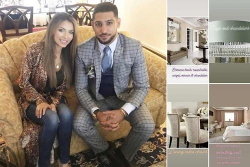 Amir Khan's wife selling couple's luxury furniture on Instagram before house move