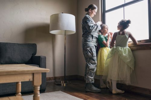 A VA loan is a mortgage for military families with a low interest rate and no minimum down payment