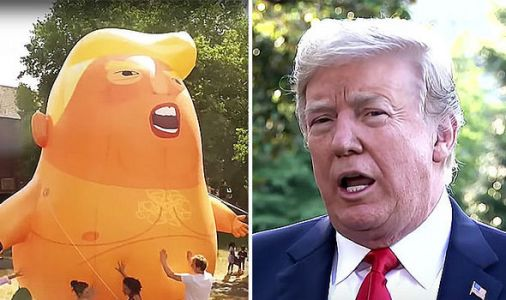 Trump confidant claims US President 'MIGHT SUE' over Sadiq Khan-approved protest balloon