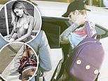 Justin Bieber checks into hotel and enjoys day at the pool with bikini-clad wife Hailey Baldwin