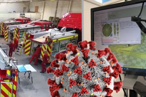 Fire engine firm join coronavirus fight by producing visors for NHS staff