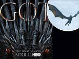 Game of Thrones' poster is a symbol of pure power as it blends Daenerys' dragon with the Iron Throne