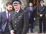 Line Of Duty's Martin Compston and Adrian Dubar are suited and booted during filming for series 6