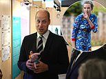 Killer fashion: Prince William is given a pair of Villanelle's tiny pyjamas from Killing Eve