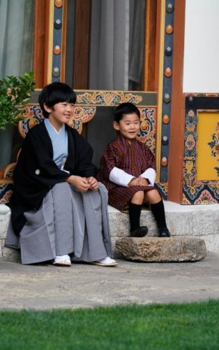 Young heirs of Bhutanese and Japanese thrones meet during latter's first official foreign visit