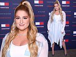 Meghan Trainor flaunts her curves at the star-studded Tommy Hilfiger show at London Fashion Week