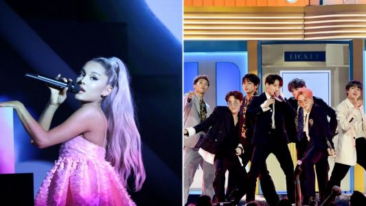 Ariana Grande appears to confirm BTS' Grammys performance as they hang at 'rehearsals'